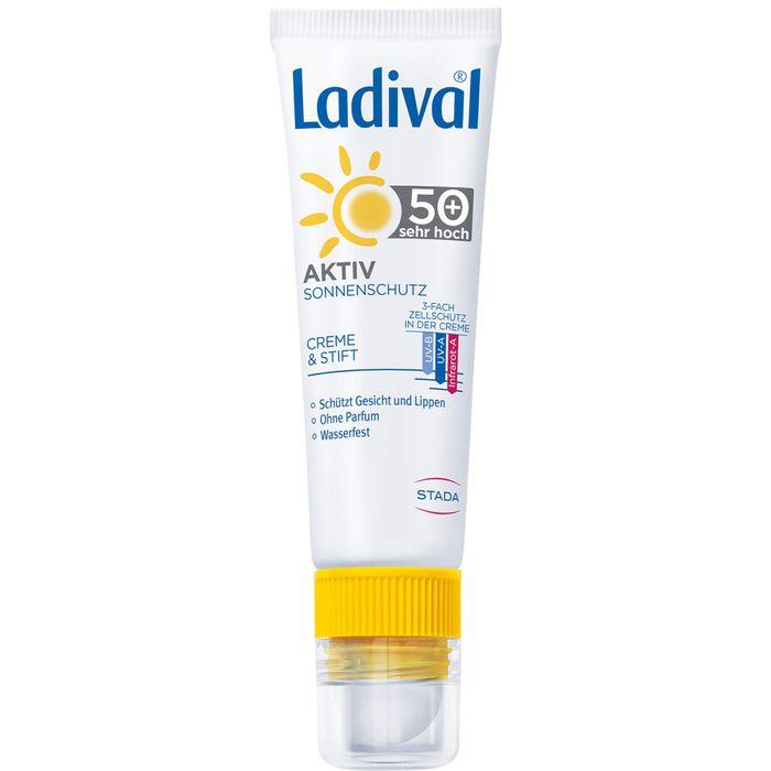 LADIVAL Aktiv Sonnenschutz Gesicht&Lippen LSF 50+