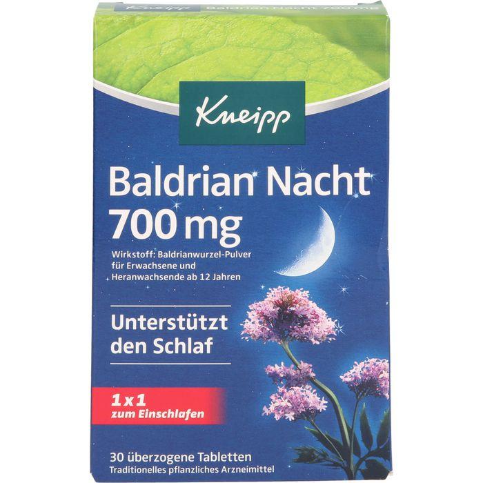 KNEIPP Baldrian Nacht 700 mg überzogene Tab.